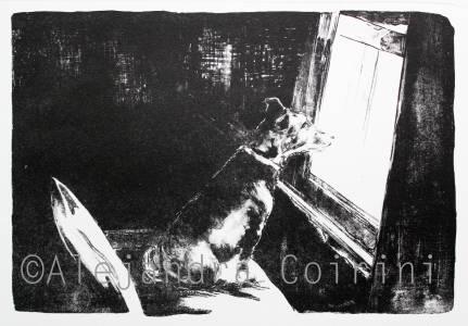 El Jagger mirando por la ventana