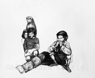 Retrato de la Infancia,Pablo y amigos que no estan