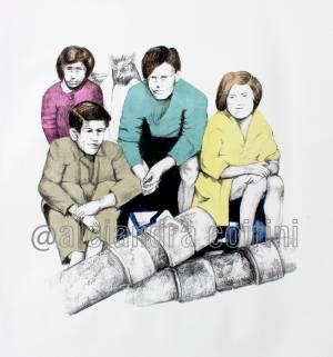 Retrato de la infancia...Maria y sus Amigos