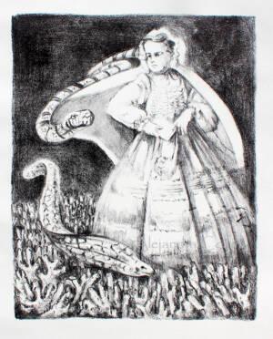 Niña Medusa con Anguilas