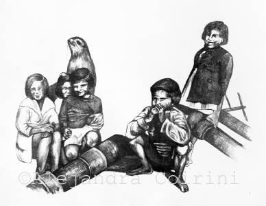 Retrato de la Infancia , Pablo y  algunos amigos
