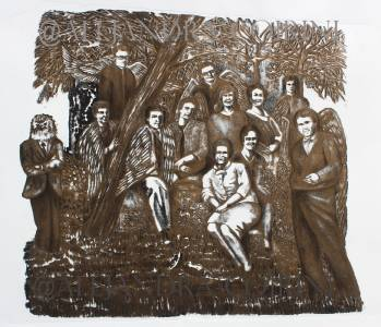 Reunión de Ángeles en el bosque